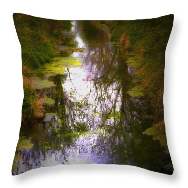 Woods Throw Pillow by Svetlana Sewell