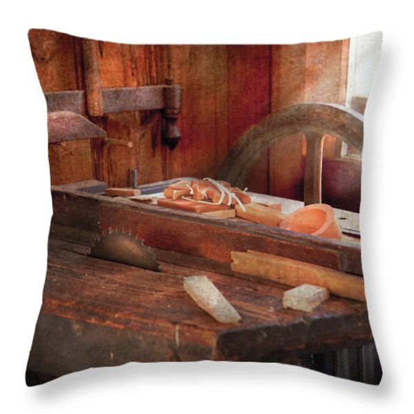 Woodworker - The Table Saw Throw Pillow by Mike Savad