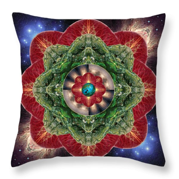 World-healer Throw Pillow by Bell And Todd