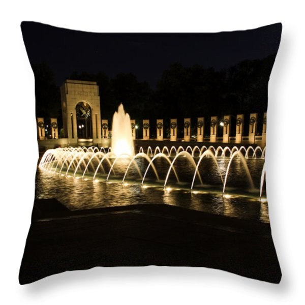 World War Memorial Throw Pillow by Kim Hojnacki
