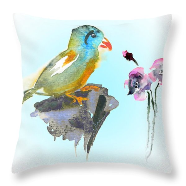 Would You Care To Dance With Me Throw Pillow by Miki De Goodaboom