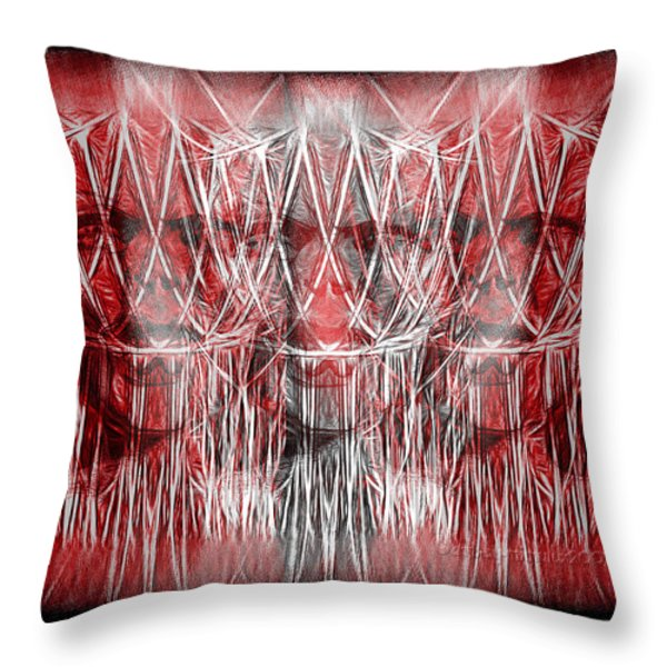 Wrath Threefold Throw Pillow by Mimulux patricia no