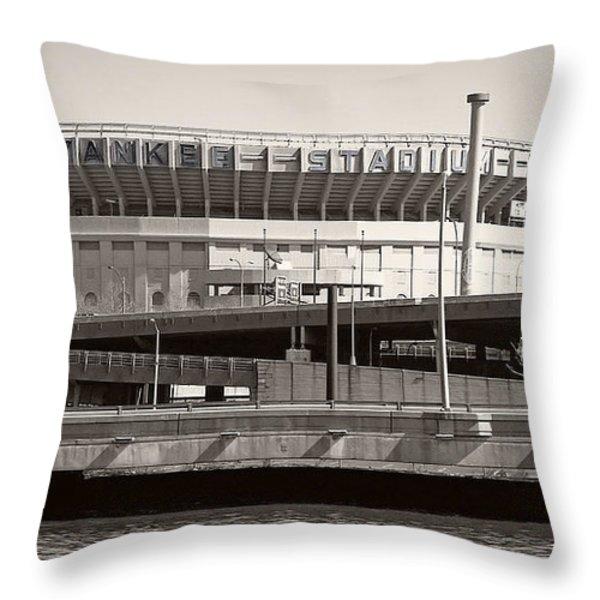 Yankee Stadium    1923  -  2008 Throw Pillow by Daniel Hagerman