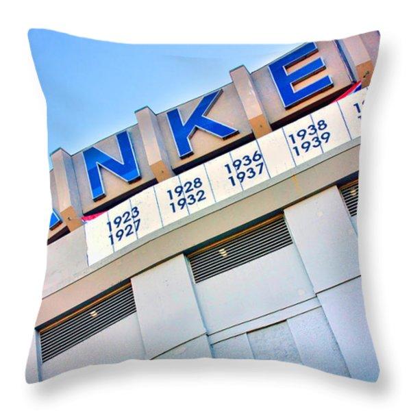 Yankee Stadium Throw Pillow by June Marie Sobrito