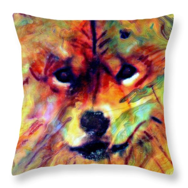 Year Of The Dog Throw Pillow by WBK