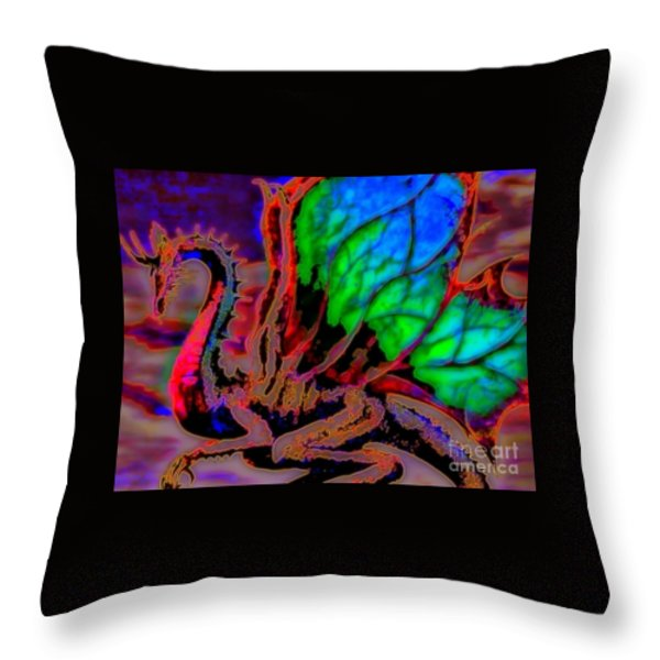 Year Of the Dragon Throw Pillow by WBK