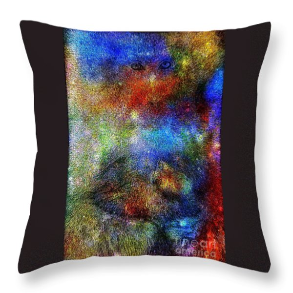 Year Of The Monkey Throw Pillow by WBK