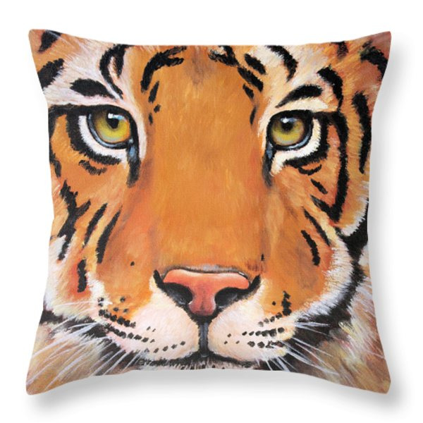 Year of the Tiger Throw Pillow by Laura Carey