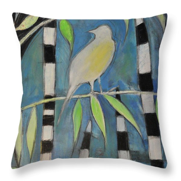 Yellow Bird Up High... Throw Pillow by Tim Nyberg