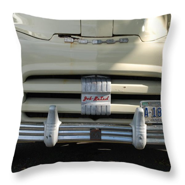Yellow Dodge Throw Pillow by Rob Hans