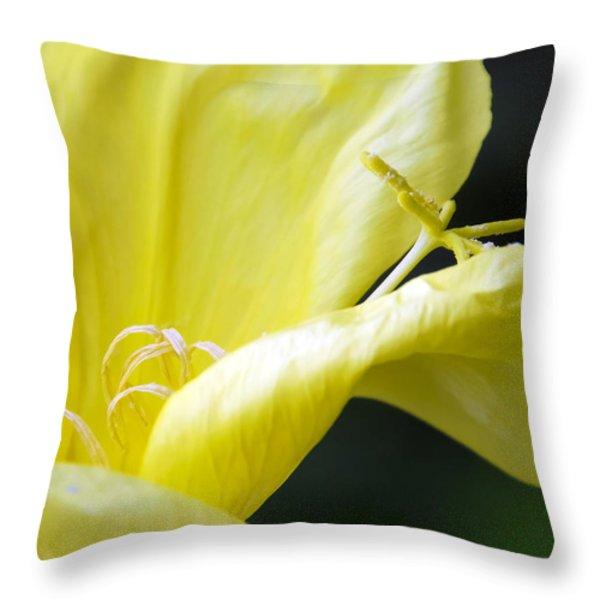 Yellow Flower Throw Pillow by Svetlana Sewell