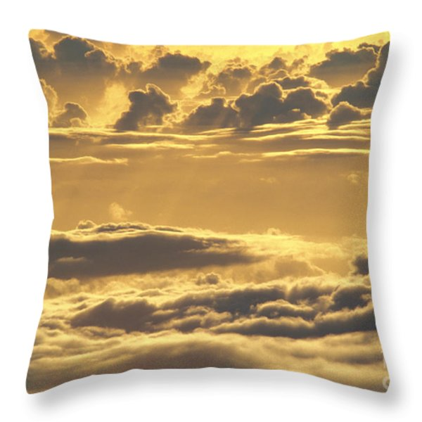 Yellow Sunset Throw Pillow by Carl Shaneff - Printscapes