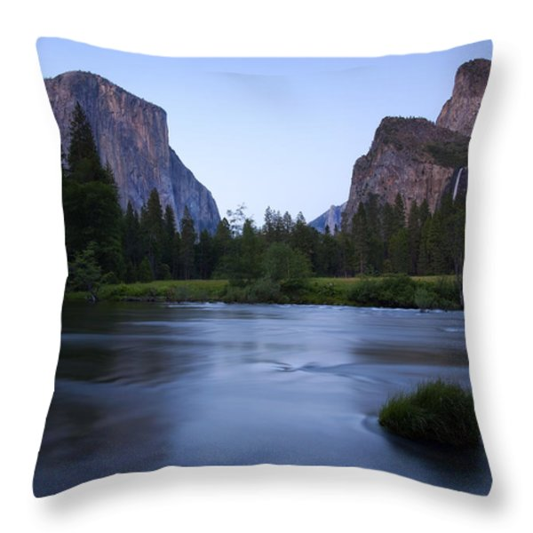 Yosemite Twilight Throw Pillow by Mike  Dawson