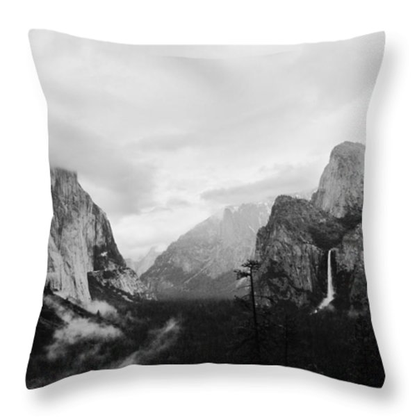 Yosemite Valley - Early Spring Throw Pillow by Charmian Vistaunet