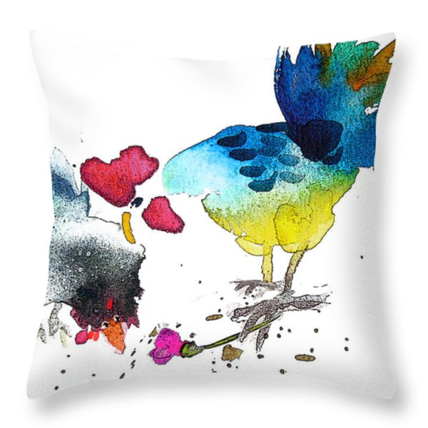 You Are My Sweet Heart Throw Pillow by Miki De Goodaboom