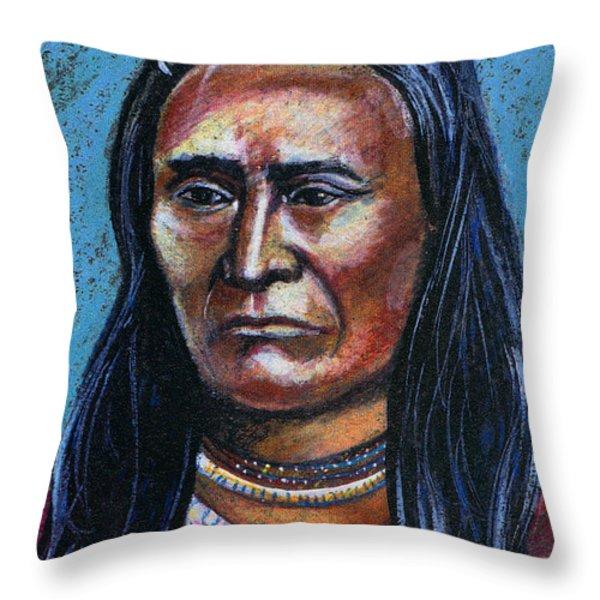 Young Indian Throw Pillow by John Keaton