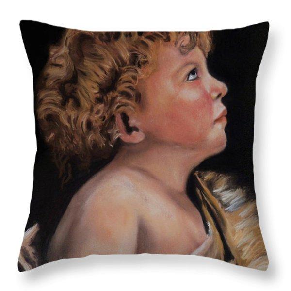 Young John the Baptist  Throw Pillow by Peter Flint