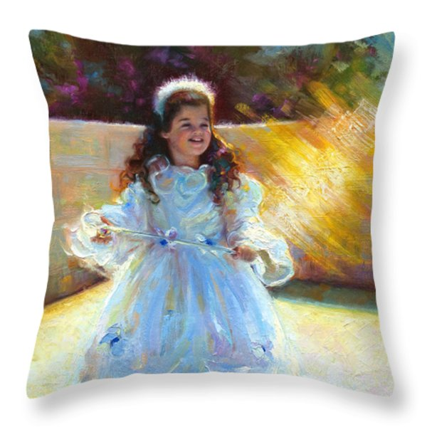 Young Queen Esther Throw Pillow by Talya Johnson