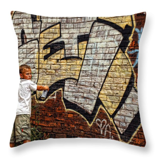 Young Vandal Too Throw Pillow by Gordon Dean II