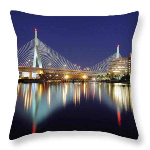 Zakim Aglow Throw Pillow by Rick Berk