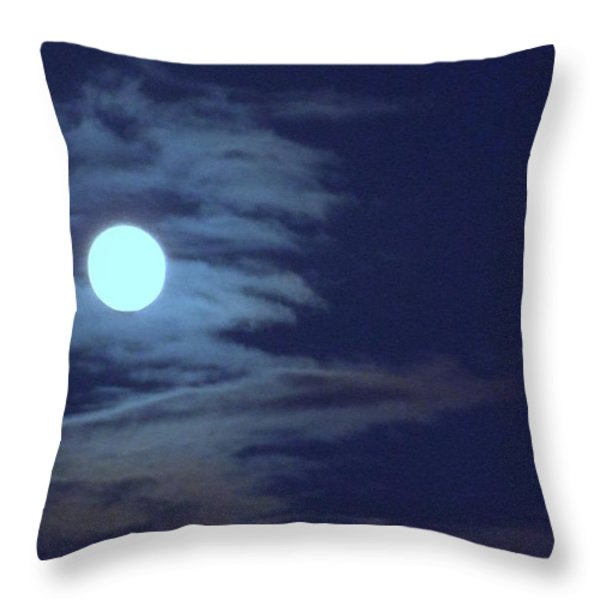 Zig Zag Moon Throw Pillow by Mary Deal