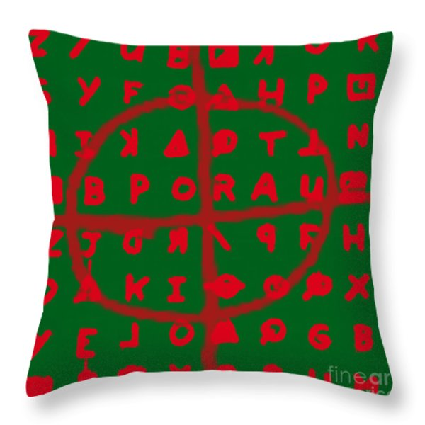 Zodiac Killer Code and SIgn 20130213 Throw Pillow by Wingsdomain Art and Photography
