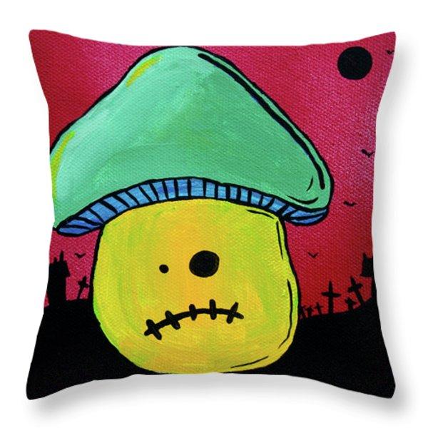 Zombie Mushroom 1 Throw Pillow by Jera Sky