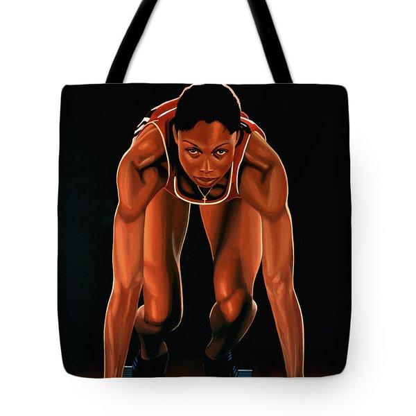 Allyson Felix Tote Bag by Paul  Meijering
