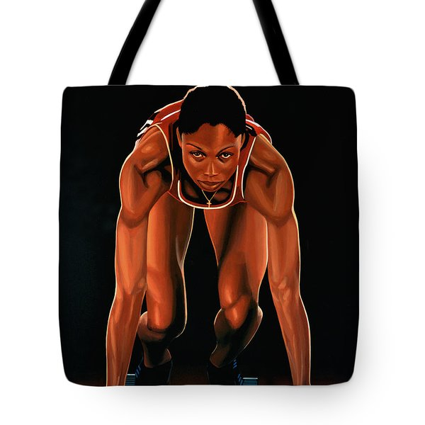 Allyson Felix  Tote Bag by Paul  Meijering