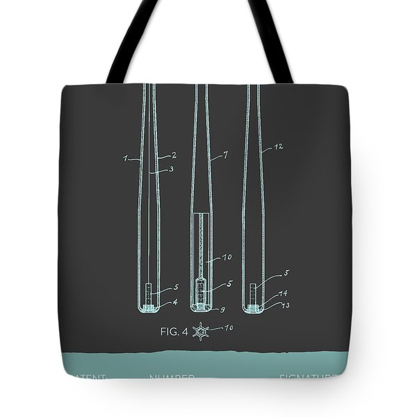 Baseball Bat Patent From 1924 - Gray Blue Tote Bag by Aged Pixel