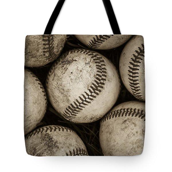 Baseballs Tote Bag by Diane Diederich