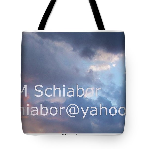 Blue And Purple Parting Clouds Print Tote Bag by Eric  Schiabor