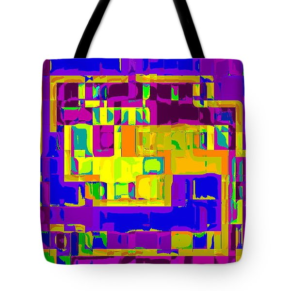 BOLD AND COLORFUL PHONE CASE ARTWORK CITY ABSTRACTS BY CAROLE SPANDAU CBS ART EXCLUSIVES 132  Tote Bag by CAROLE SPANDAU