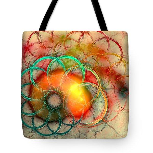 Chain Of Events Tote Bag by Anastasiya Malakhova