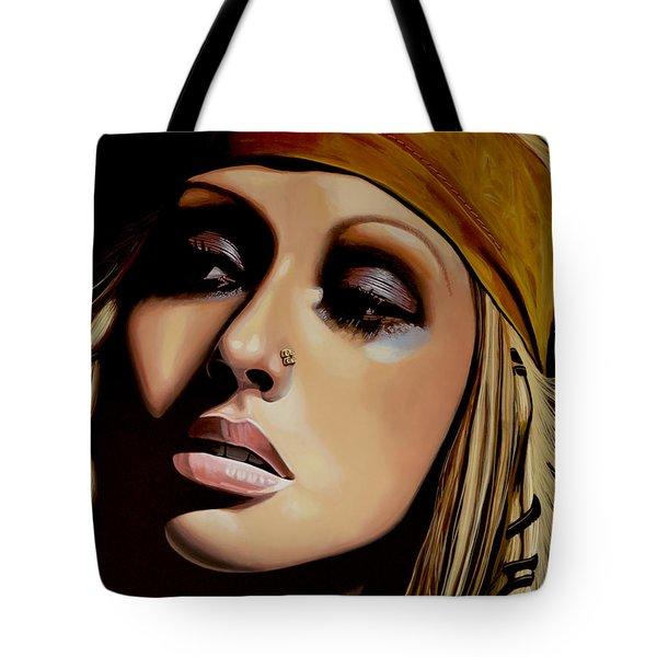 Christina Aguilera Tote Bag by Paul Meijering