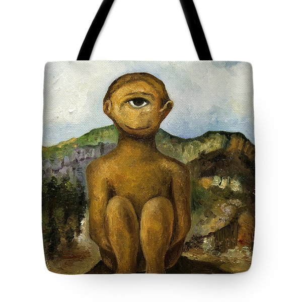 Cyclops Tote Bag by Leah Saulnier The Painting Maniac