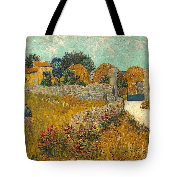 Farmhouse In Provence Tote Bag by Vincent van Gogh