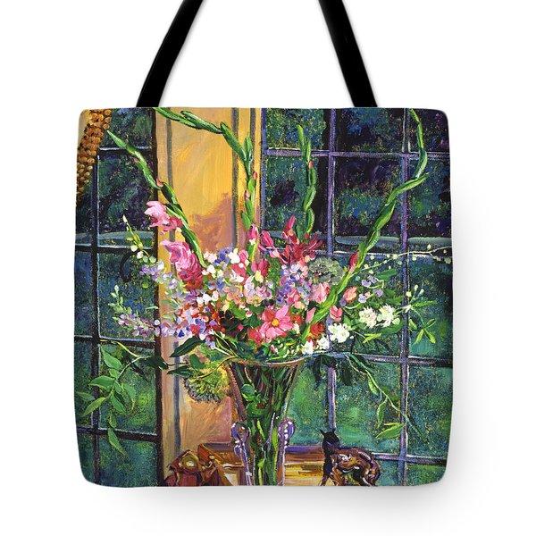 GLADIOLA ARRANGEMENT Tote Bag by David Lloyd Glover