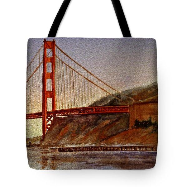 Golden Gate Bridge San Francisco California Tote Bag by Irina Sztukowski