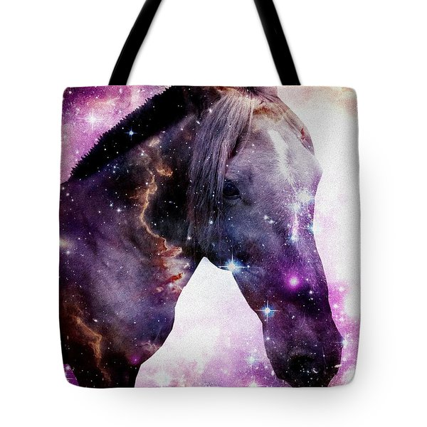 Horse in the Small Magellanic Cloud Tote Bag by Anastasiya Malakhova