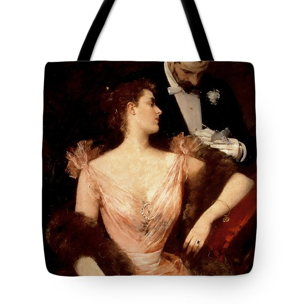 Invitation To The Waltz Tote Bag by Francesco Miralles Galaup
