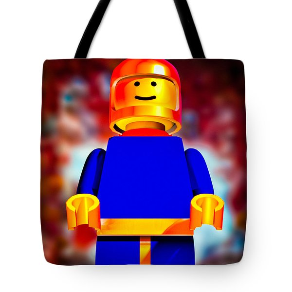 Lego Spaceman Tote Bag by Bob Orsillo