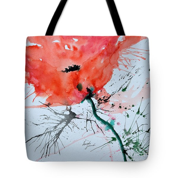 Lonely Poppy Tote Bag by Ismeta Gruenwald