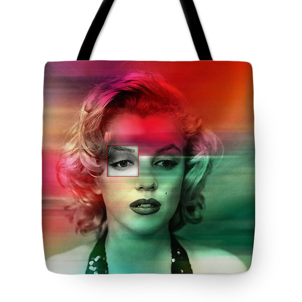 Marilyn Monroe Painting Tote Bag by Marvin Blaine