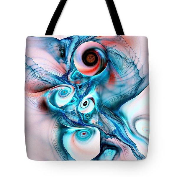 Marshmallow Dragon Tote Bag by Anastasiya Malakhova