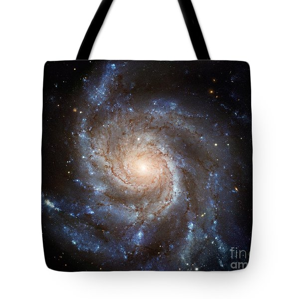Messier 101 Tote Bag by Barbara McMahon