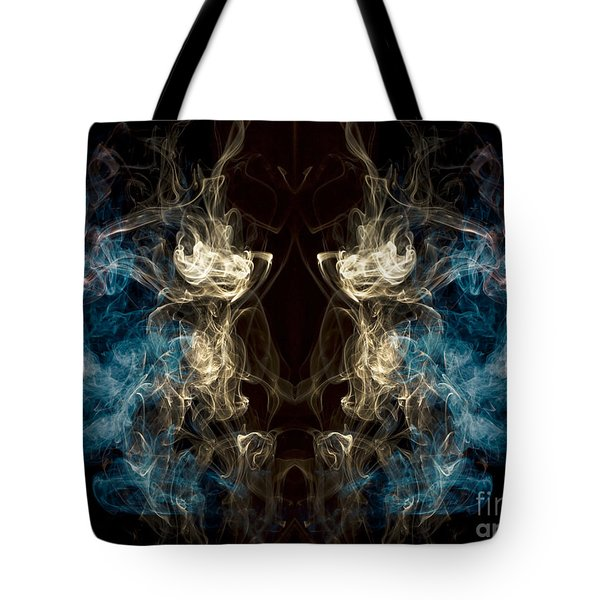 Minotaur Smoke Abstract Tote Bag by Edward Fielding