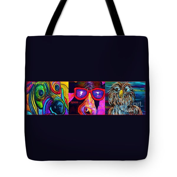 Morning Noon And Night Tote Bag by Eloise Schneider