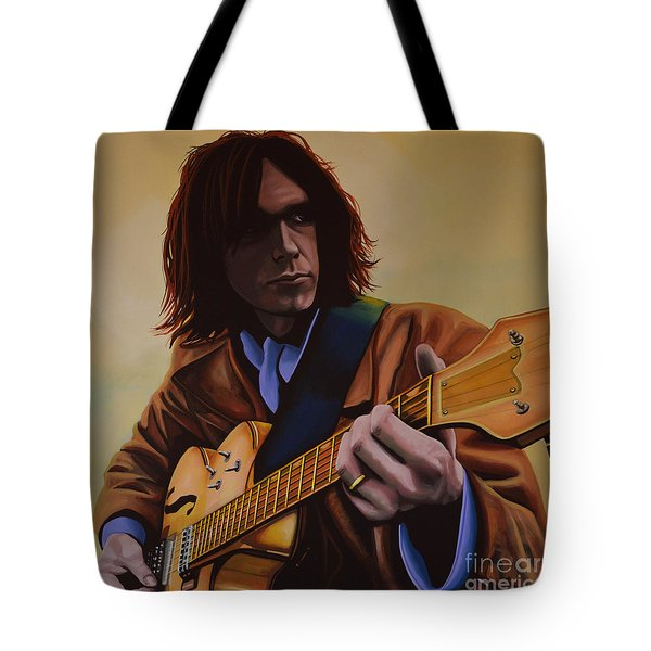 Neil Young Painting Tote Bag by Paul Meijering
