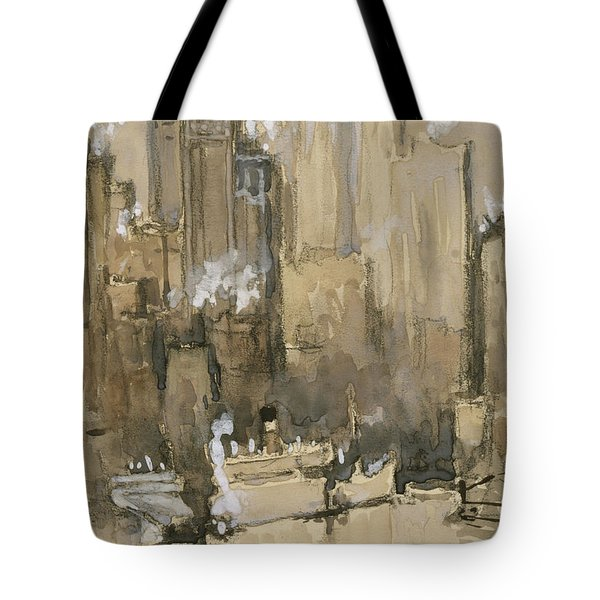 New York From Our Brooklyn Flat Circa 1921 Tote Bag by Aged Pixel